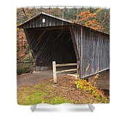 Bob White Covered Bridge Shower Curtain