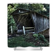 Bob White's Covered Bridge Shower Curtain