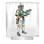 Boba Shower Curtain