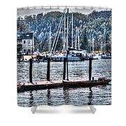 Yachts Shower Curtain