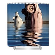 Bobbing For Carburetors Shower Curtain
