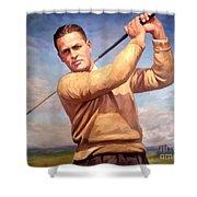 bobby Jones Shower Curtain by Tim Gilliland