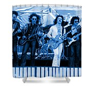 Boc #102 In Blue Shower Curtain