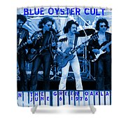 Boc #103 In Blue With Text Shower Curtain