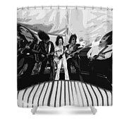 Boc #3 Enhanced Bw Squeezed Shower Curtain