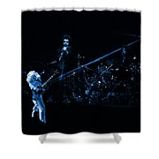 Boc #4 Lasers In Blue Shower Curtain