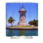 Boca Chita Lighthouse Shower Curtain