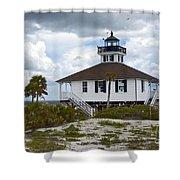 Boca Grande Lighthouse II Shower Curtain