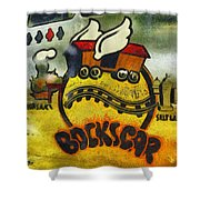 Bockscar Nose Art Abstract Shower Curtain