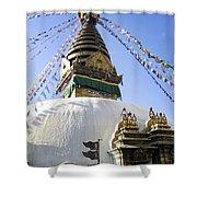 Bodhnath Stupa Shower Curtain
