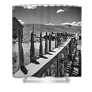 Bodie California Long Dusty Road Shower Curtain