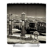Bodie Gas Station Shower Curtain