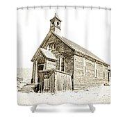 Bodie Ghost Town Church Shower Curtain