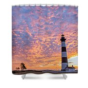 Bodie Island Lighthouse At Sunrise Vetical Shower Curtain