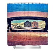 Bodie Through Car Window Shower Curtain