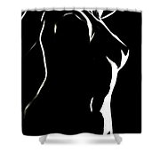 Body And Light Shower Curtain