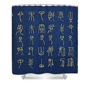 Body Is Our Temple - Chinese Poem Shower Curtain
