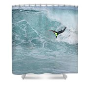 Body Surfer  Shower Curtain