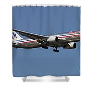 Boeing 767 Of American Airlines Shower Curtain