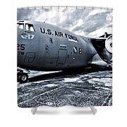 Boeing C-17 Airplane Shower Curtain