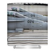 Boeing Fa-18 Hornets Of The Swiss Air Shower Curtain