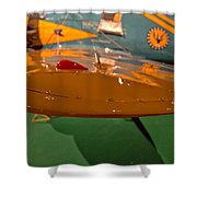 Boeing P26 Peashooter Wing Shower Curtain