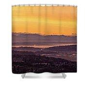 Boeing Seatac And Rainier Sunrise Shower Curtain