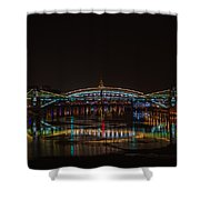 Bogdan Khmelnitsky Bridge Over The Moscow River - Featured 3 Shower Curtain