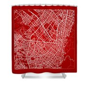 Bogota Street Map - Bogota Colombia Road Map Art On Color Shower Curtain