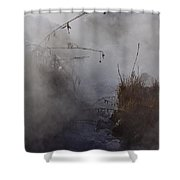 Boiling River  Ynp    Shower Curtain