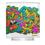 Boing Shower Curtain by Chelsea Geldean