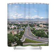 Boise From Boise Depot Tower Shower Curtain