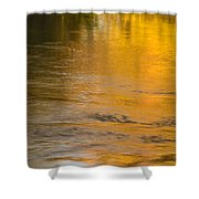 Boise River Autumn Abstract Shower Curtain