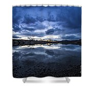 Boise River Just After Sunset Shower Curtain