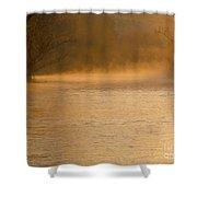 Boise River Sunrise Shower Curtain
