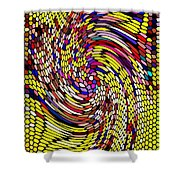 Bold And Colorful Phone Case Artwork Designs By Carole Spandau Cbs Art The Golden Dragon 114  Shower Curtain