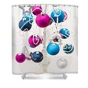 Bold Baubles Shower Curtain