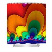 Bold Colors Fractal Shower Curtain