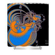 Bold Energy Abstract Digital Art Prints Shower Curtain