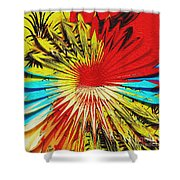 Bold Floral Hat Abstract Shower Curtain