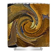 Bold Golden Abstract Shower Curtain