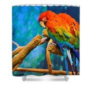 Bold Parrot Shower Curtain
