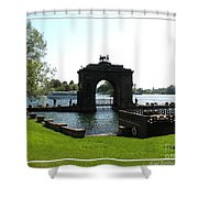 Boldt Castle Entry Arch Shower Curtain by Rose Santuci-Sofranko