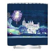 Boldt Castle Fireworks Shower Curtain