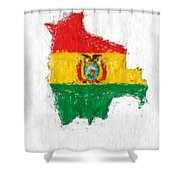 Bolivia Painted Flag Map Shower Curtain