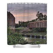 Burfordville Mill Shower Curtain