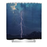 Bolt Out Of The Blue Shower Curtain