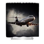 Bombardier Landing Shower Curtain