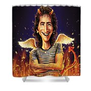 Bon Scott Shower Curtain