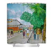 Bonaire Street Shower Curtain